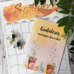 September kalender – bursdagskort med høstens farger