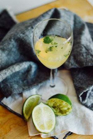 An easy 2-step Cilantro Gin Gimlet / bygabriella.co
