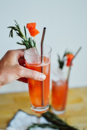 A tasty Watermelon Sandia Smash drink recipe for summer! / bygabriella.co