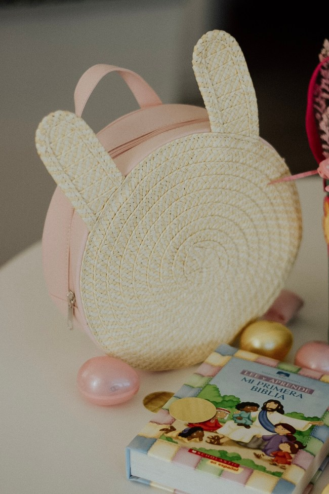 What to put in your toddler easter basket. Oh Lola. Bunny Straw Toddler Backpack