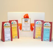Grist Mill Sampler includes one package each of Nana's Cornbread Mix, 18th Century Spoon Bread Mix, Buttermilk Biscuit Mix and Stoneground Grits.
