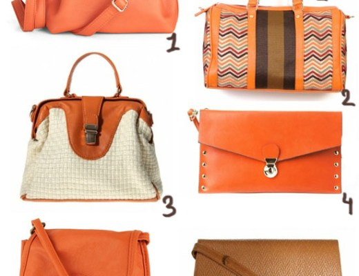 love this orange bags