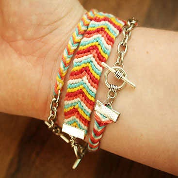 DIY - Chevron friendship bracelet small