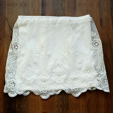 DIY - Lace skirt tutorial small