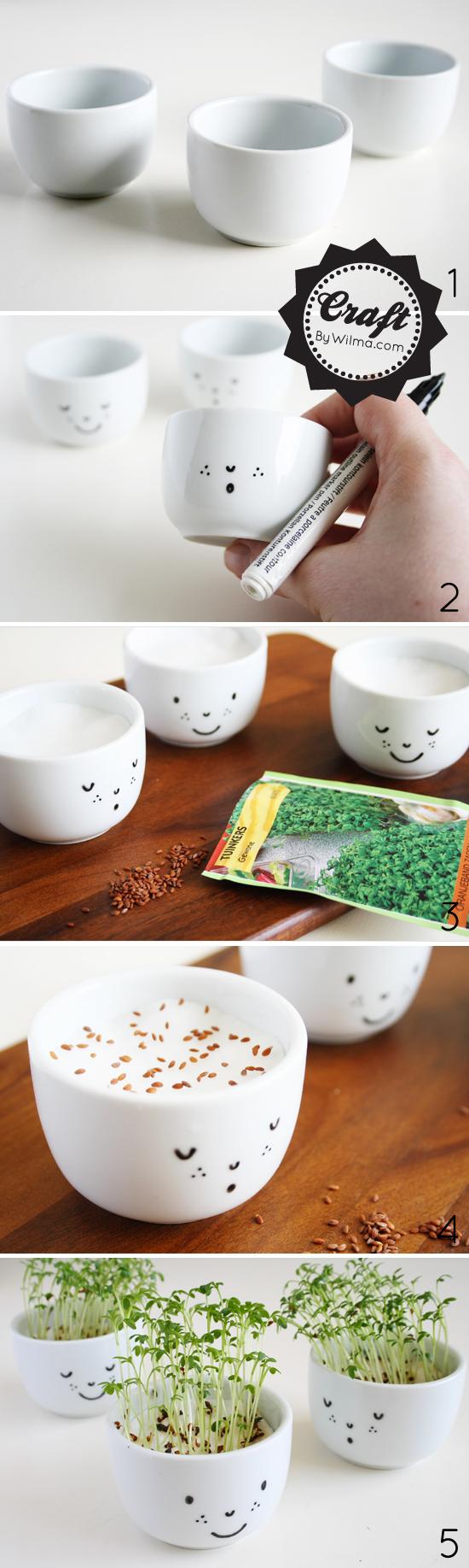 DIY watercress cups