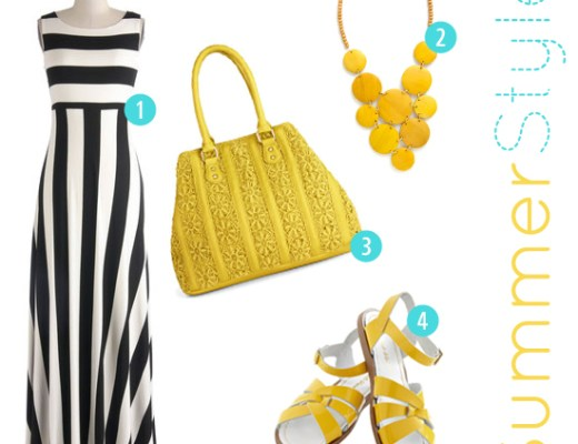 summer style in yellow