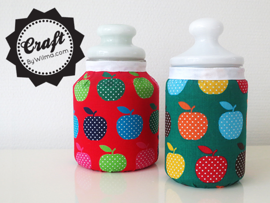 DIY - Fabric covered jars