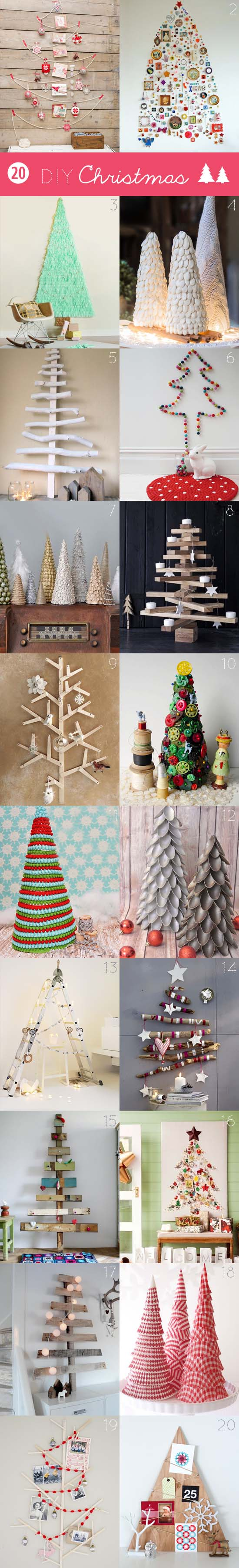 20 amazing DIY Christmas trees. Why should you buy one if you can make (an even prettier) one? #Christmas #tree #DIY #craft