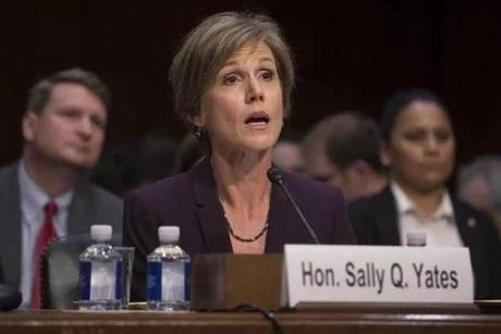 Sally Yates testified at a Senate Judiciary subcommittee hearing earlier this week.