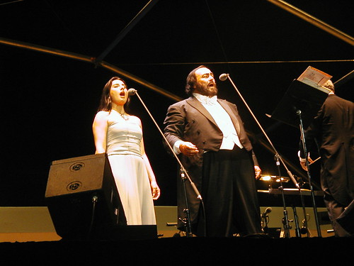 Pavarotti singing  in Modena