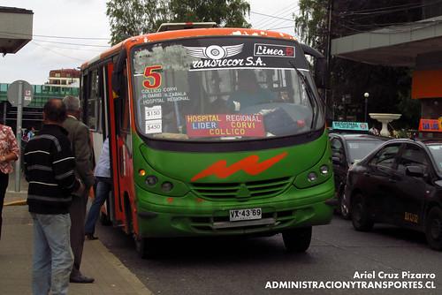 Valdivia - Línea 5 | Transporte Regional Corvi | Neobus Thunder / Agrale (VX4369)