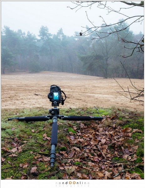 Setup voor het maken van een foto met hyperfocale afstand. Deze setup is gebruikt voor de voorbeeldfoto's