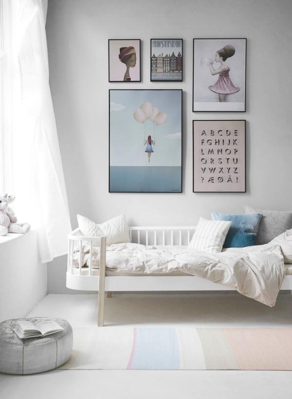 homestilo | kids gallery walls | kids space | kids room | childrens design childrens | art work | via visse vasse