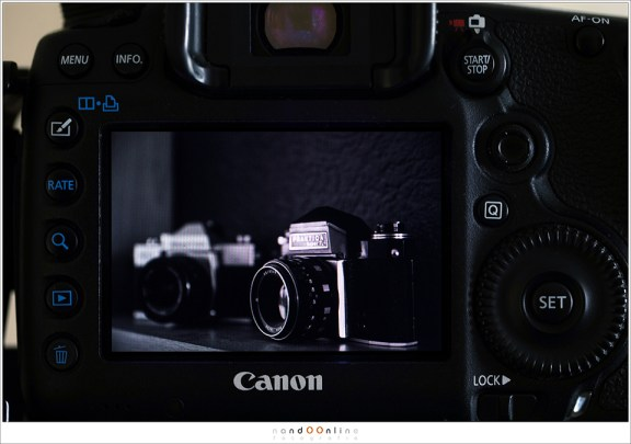 Een zwartwit preview op het scherm van je camera. Geen kleuren die afleiden waardoor we alle aandacht aan de contrasten kunnen geven.