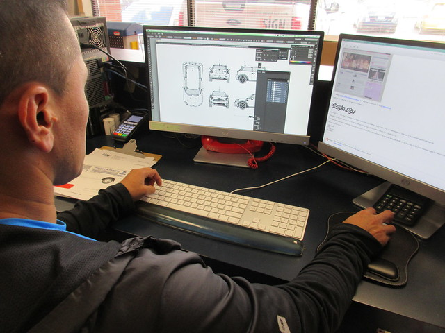 brillaint graphic designer, vehicle wrap, automobile advertising designer
