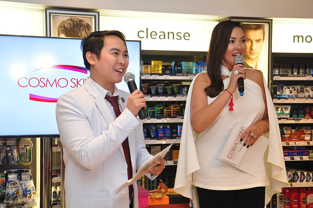 Cosmo Skin Founder and Marketing Director Dr. Nino Bautista and endorser Ruffa Gutierrez