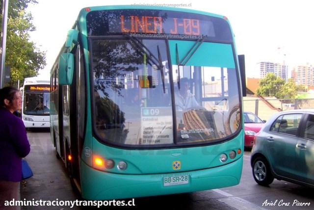 Transantiago J09 | CNM | Busscar Urbanuss Pluss - Mercedes Benz / BBSR28