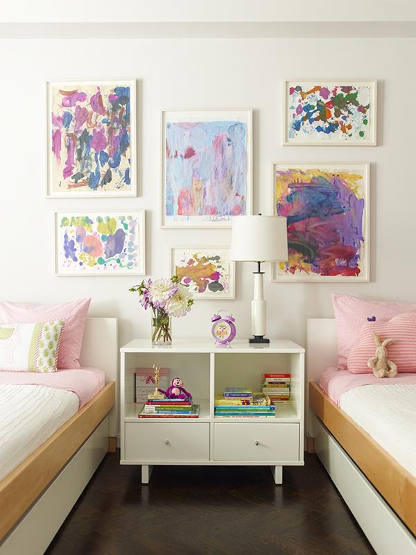 homestilo | kids gallery walls | kids space | kids room | childrens design childrens | art work | via sawyer berson designs