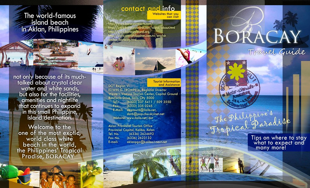 sample travel brochure mindanao      Free Press Templates   Full Images     Travel Brochure Examples In Philippines Boracay Brochure Page 1 Boracay  Philippines Brochure Flickr