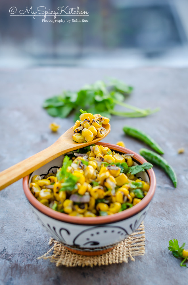 Corn, Fire Roasted Corn Kernels, Corn Kernels, Frozen Corn kernels, Fire roasted corn kernels, Corn stir fry, fire roasted corn stir fry, blogging marathon, semi homemade recipe,