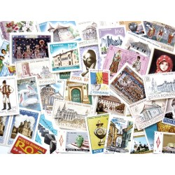 Small Crop Of Post Card Stamps
