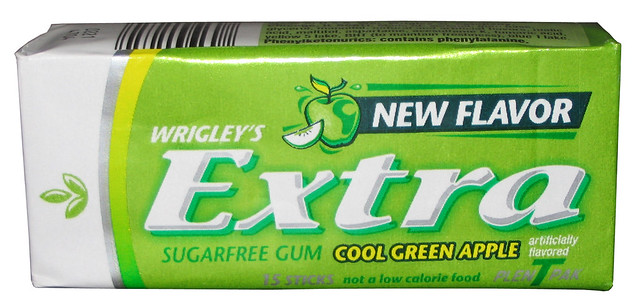 Extra Cool Green Apple Gum