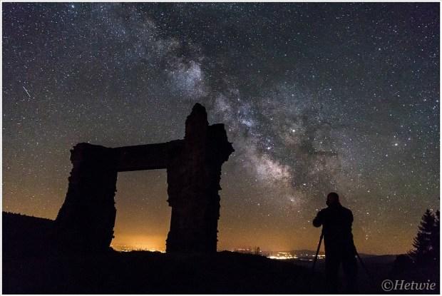 Het fotograferen van de Melkweg bij La Potence