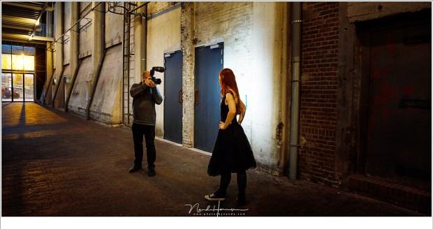 Zelfportret tijdens het fotograferen van Wendy op de Noordkade in Veghel
