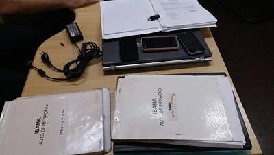 3 servidores do Ibama são denunciados na Justiça Federal por corrupção, Ibama - material apreendido pela PF