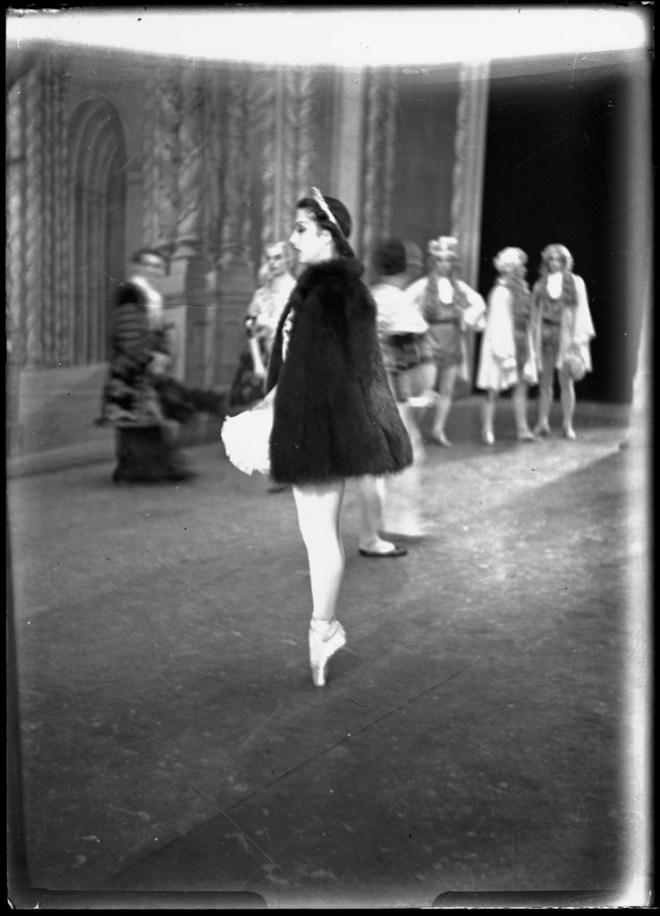 """Aurora's wedding"" with Tamara Toumanova, Michael Panaieff, Anton Vlassoff and Oleg Tupine, 1940."