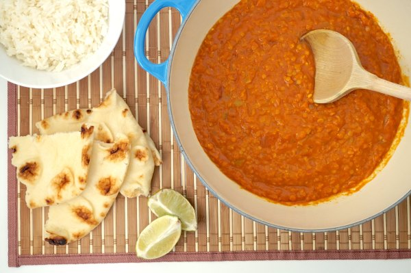 Pot of Red Lentil Curry | thelittleredspoon.com