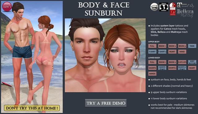 Body & Face Sunburn