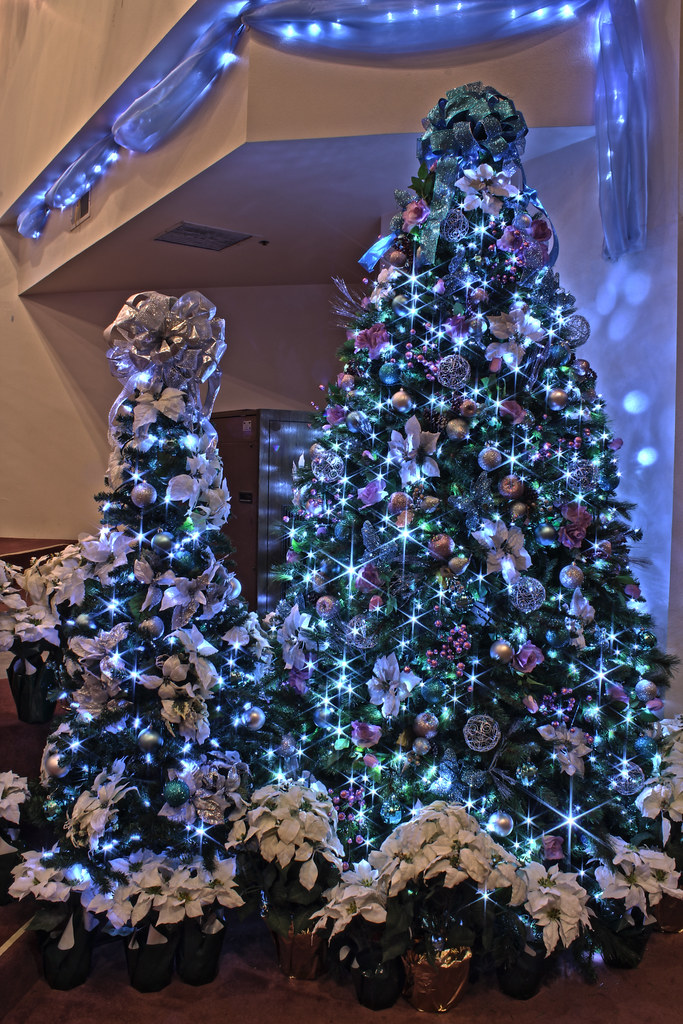 Silver  Purple  and Blue Themed Christmas Tree in LED Ligh      Flickr     Silver  Purple  and Blue Themed Christmas Tree in LED Lights   by  Mastery of