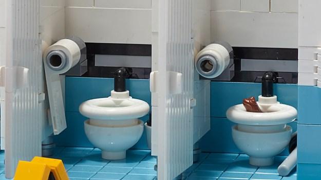 Public toilet playset