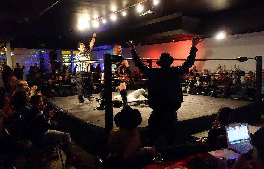 The Hacker defeats Nick Watts. live wrestling, #HogtownPro