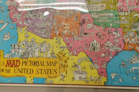 a mad pictorial map of the united states 1981 | from mad