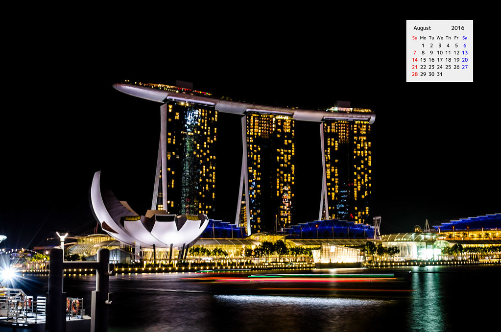 Marina Bay Sands Hotel in Night