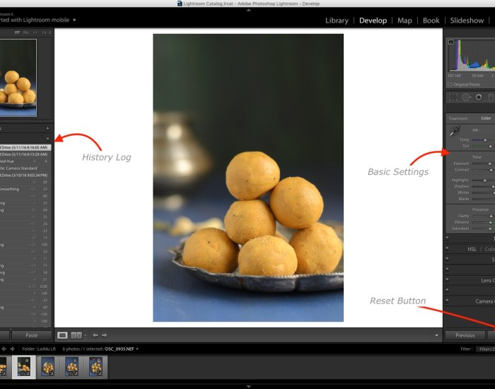 Lightroom Tutorial for Food photos, Lightroom tutorial, Editing RAW files in Lightroom,  Lightroom Food Tutorial, How to edit food photos in Lightroom,  Reset Settings,