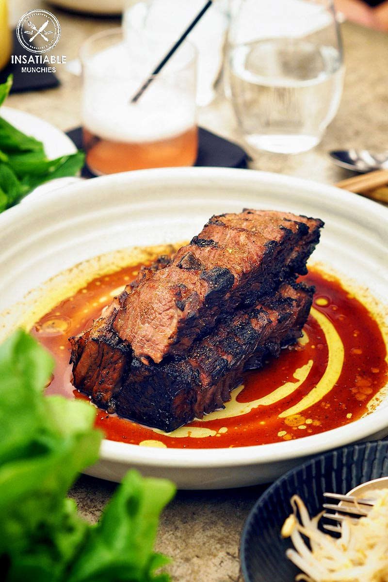Review of Cho Cho San, Potts Point: beef short ribs for the bossam menu