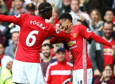 Ferdinand criticises Pogba and Lingard for goal celebration video Paul Pogba and Jesse Lingard  file pic