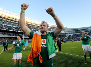 Calling it a day: Jamie Heaslip.