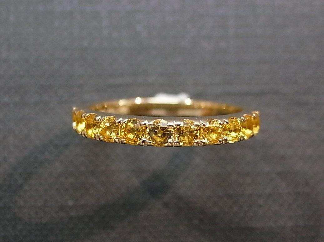 yellow sapphire wedding ring in 14k yellow gold sapphire wedding bands Yellow Sapphire Wedding Ring in 14K Yellow Gold