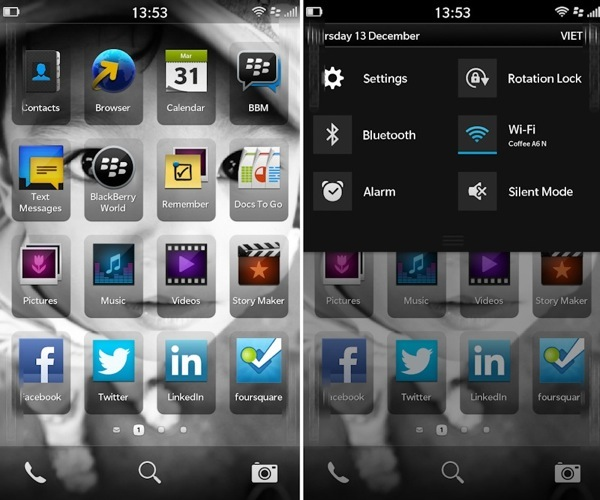 BlackBerry 10 UI