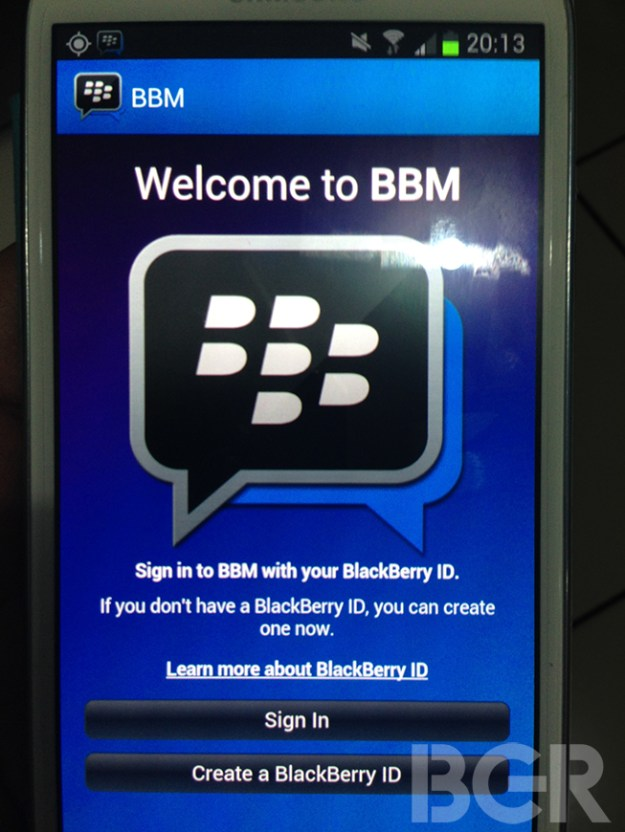 BlackBerry Messenger for Android exclusively pictured for the first time