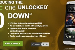 HTC One Interest-free Financing