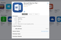 Word, Excel, PowerPoint for iPad Price