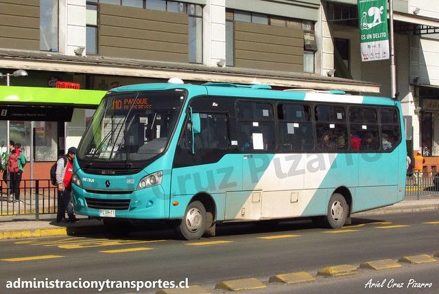 Transantiago J10 | Metbus | Caio Foz - Mercedes Benz / FLXR71