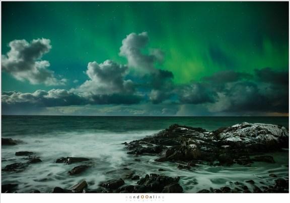 Deze is voor mij toch wel een van de mooiste beelden van het Noorderlicht, aan de kust van Laukvik