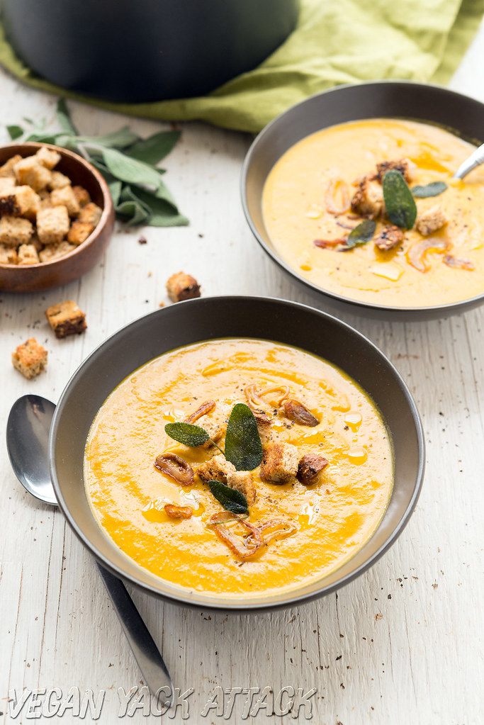 Winter Bisque with Crispy Sage & Shallots