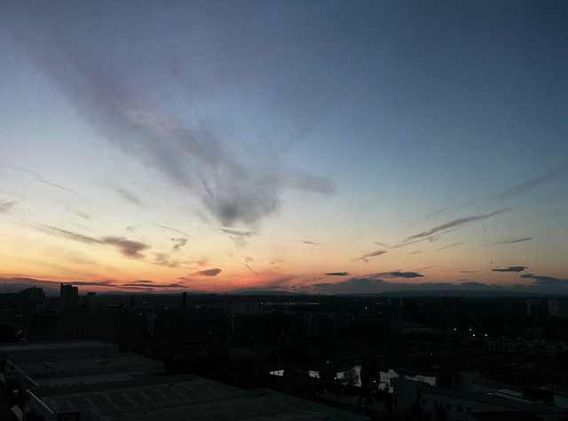 Sunset over Manchester